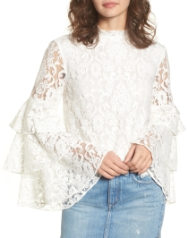Nordstrom_Ruffle Sleeve Lace Top