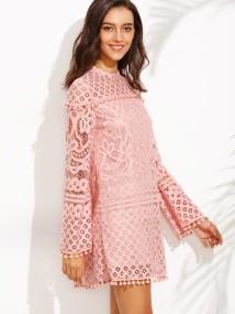 SheIn Crochet Pom Pom Dress