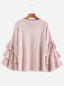 Bluse Ruffle Sweater
