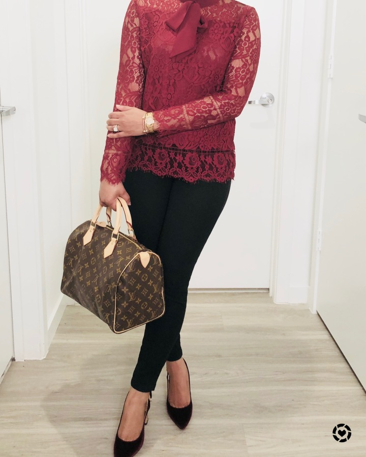 Instagram Shein Lace Blouse