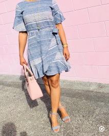 Instagram Flutter Sleeve Dress