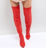 New Look Over The Knee Pointed Heeled Boot