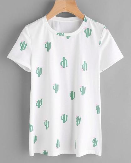 Shein Cactus Tee