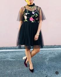 Insta Botanical Overlay Dress