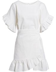 Ruffle Faux Wrap Dress