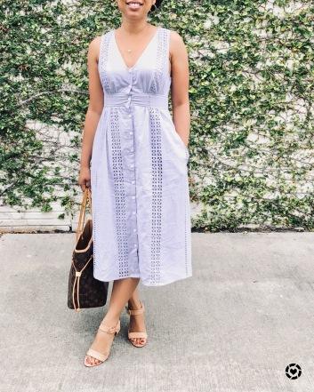 Instagram Lavender Eyelet Dress