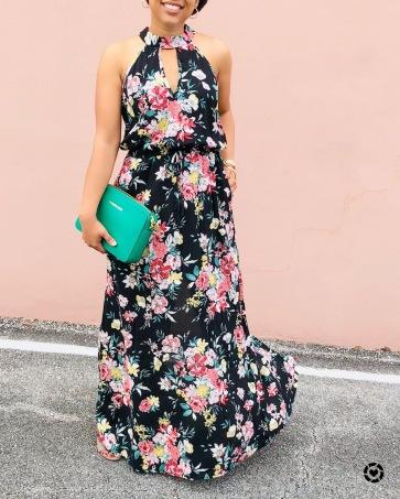 Instagram Target Floral Maxi Dress