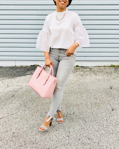 Instagram A New Day Exaggerated Sleeve Blouse