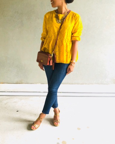 Instagram Shein Eyelet Embroidered Blouse
