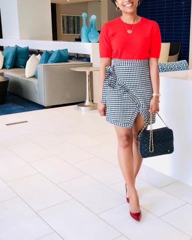 Instagram Ruffled Gingham Skirt