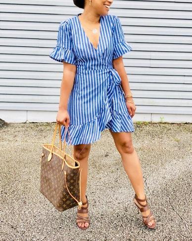 Instagram Forever 21 Ruffle Wrap Dress