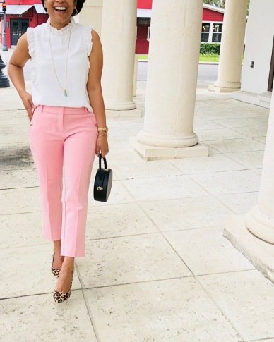 Instagram LOFT Slim Cuffed Pants