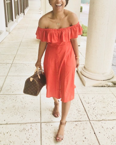 Instagram Forever 21 Linen-Blend Flounce Dress