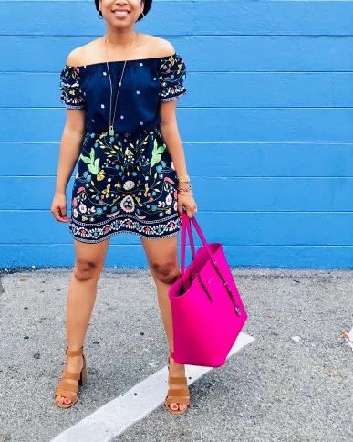 Instagram SHEIN Tribal Print Bardot Dress