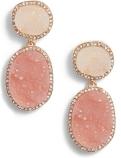 Krystal Faux Drusy Drop Earrings